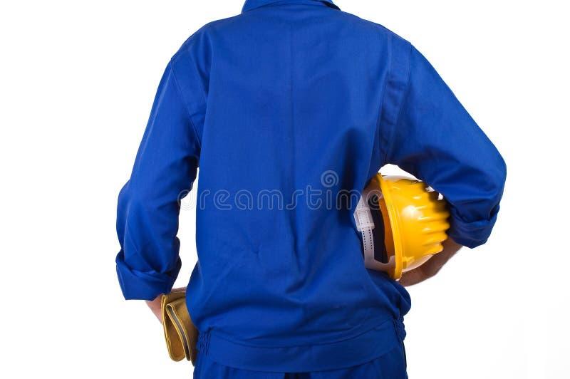 Trabajador de cuello azul. imagenes de archivo