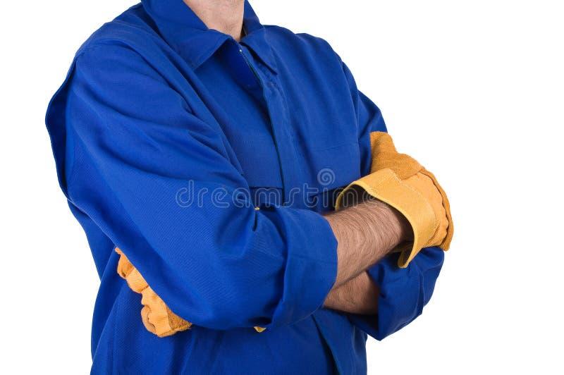 Trabajador de cuello azul. imágenes de archivo libres de regalías