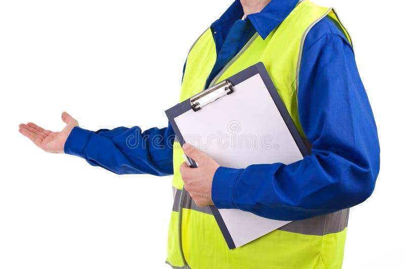 Trabajador de cuello azul. fotografía de archivo