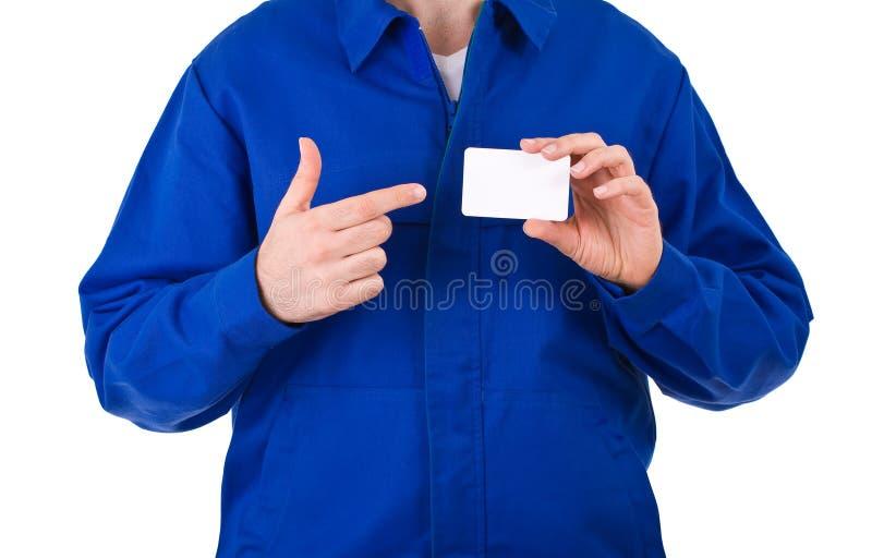 Trabajador de cuello azul. imagen de archivo libre de regalías