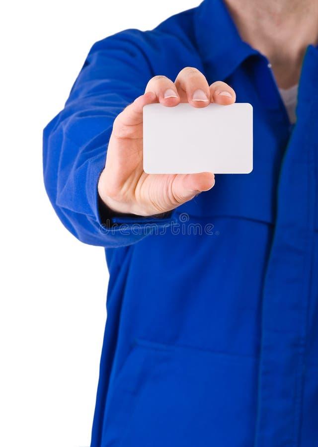 Trabajador de cuello azul. imagen de archivo