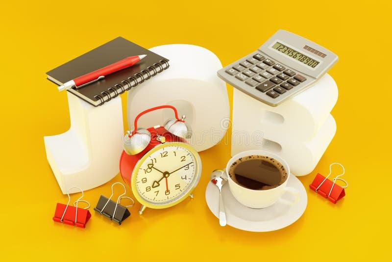 Trabajador de Job Of Accountant Or Office stock de ilustración