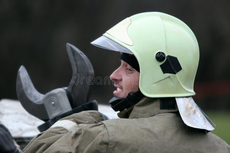 Trabajador de la emergencia imagen de archivo