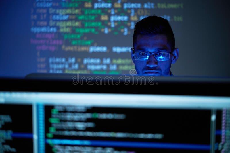 Trabajador de las TIC imagen de archivo