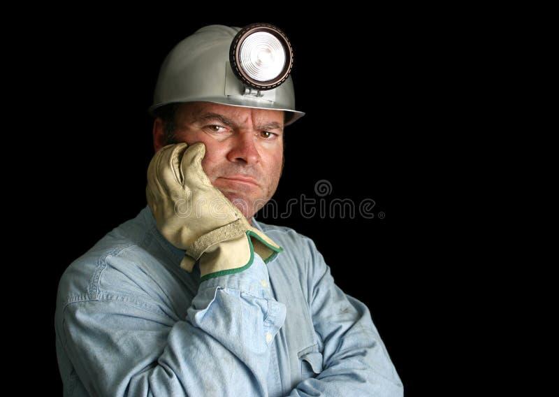 Trabajador de mina contrariedad fotografía de archivo