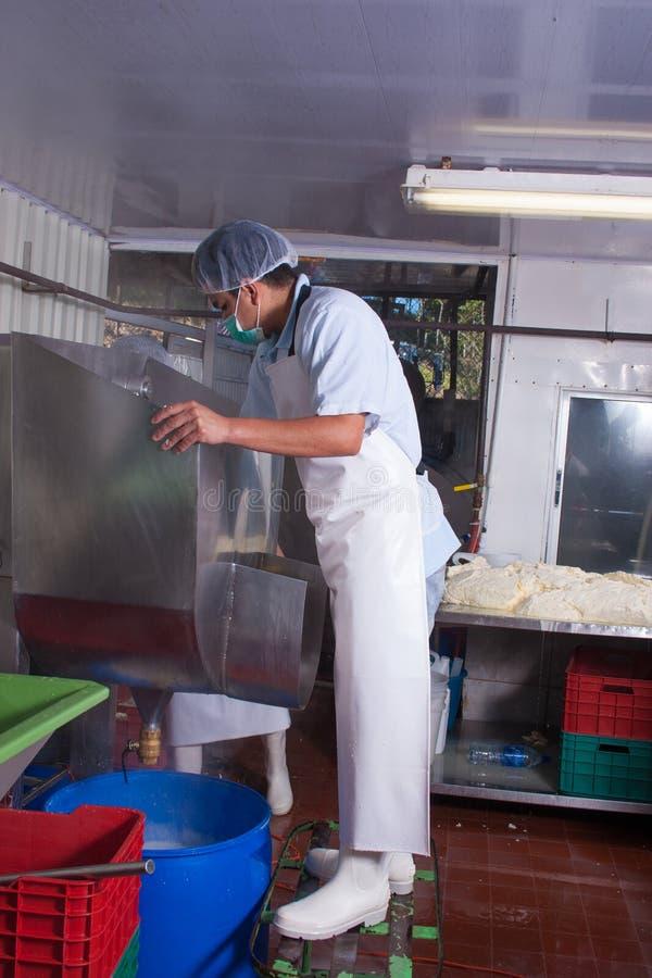 Trabajador de planta de comida fotografía de archivo libre de regalías