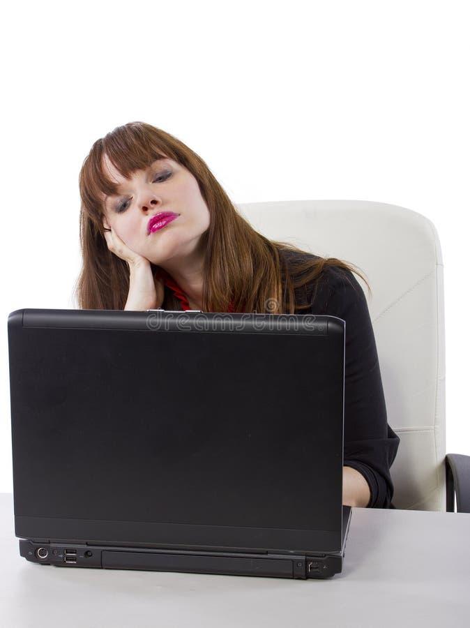 Download Trabajador De Sexo Femenino Cansado Imagen de archivo - Imagen de brunette, adulto: 44852433