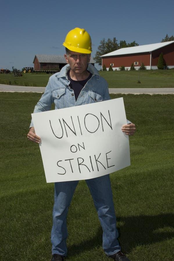 Trabajador de unión en huelga fotos de archivo