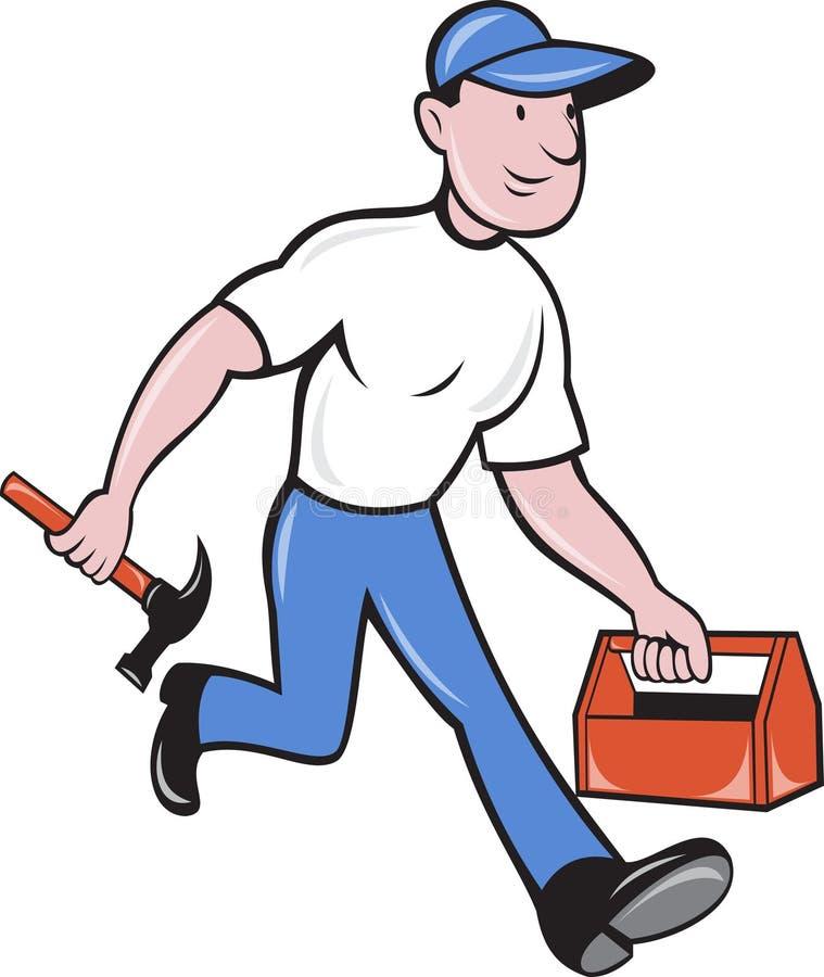 Trabajador del comerciante del carpintero stock de ilustración