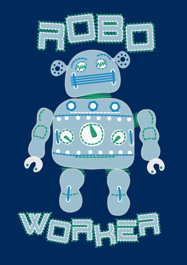 Trabajador del robot. stock de ilustración