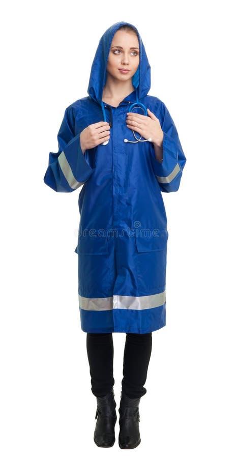Trabajador del servicio de emergencia en uniforme imágenes de archivo libres de regalías