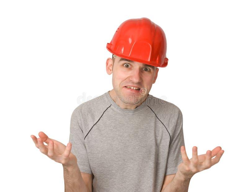 Trabajador infeliz y contrariedad fotografía de archivo libre de regalías