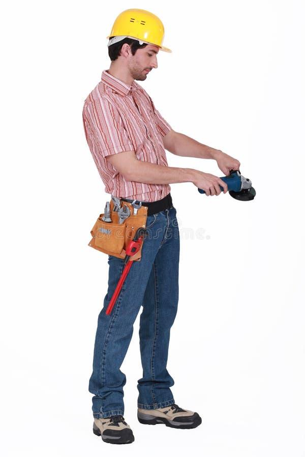 Trabajador manual fotografía de archivo