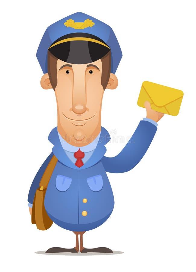 Trabajador postal stock de ilustración