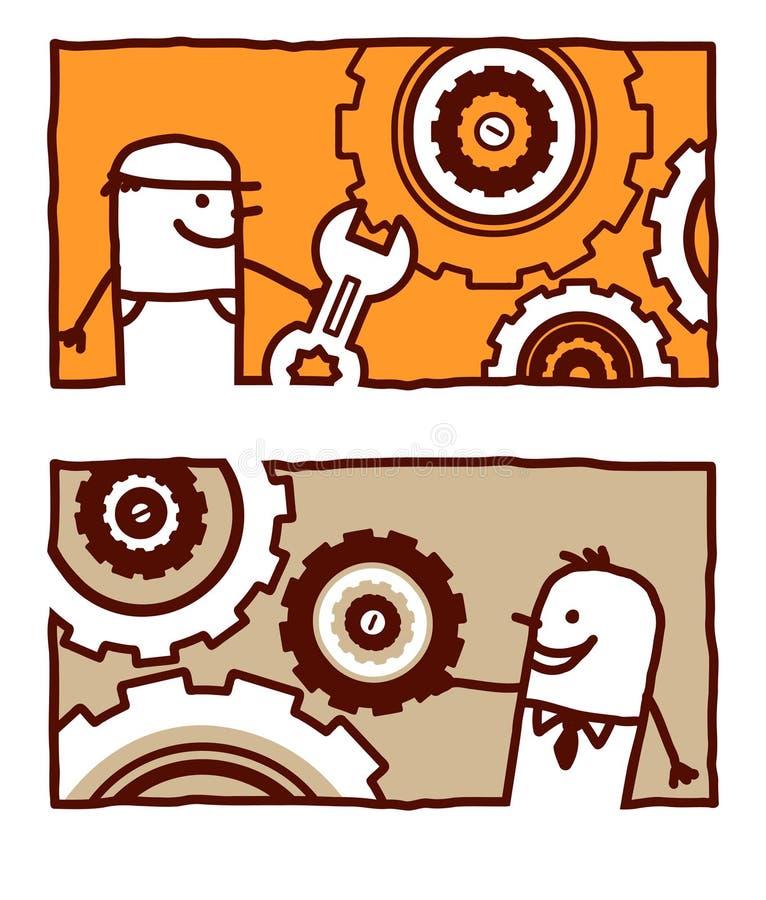 Trabajador y ingeniero libre illustration