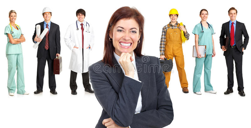 Trabajadores fotos de archivo