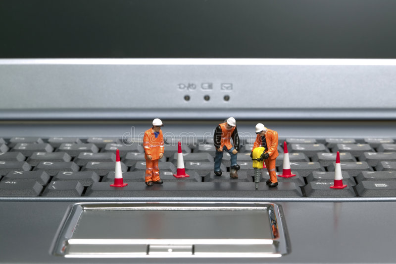 Trabajadores 2 del teclado fotografía de archivo libre de regalías