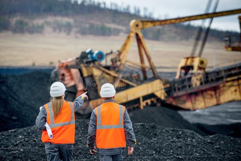 Trabajadores carboníferos fotografía de archivo libre de regalías