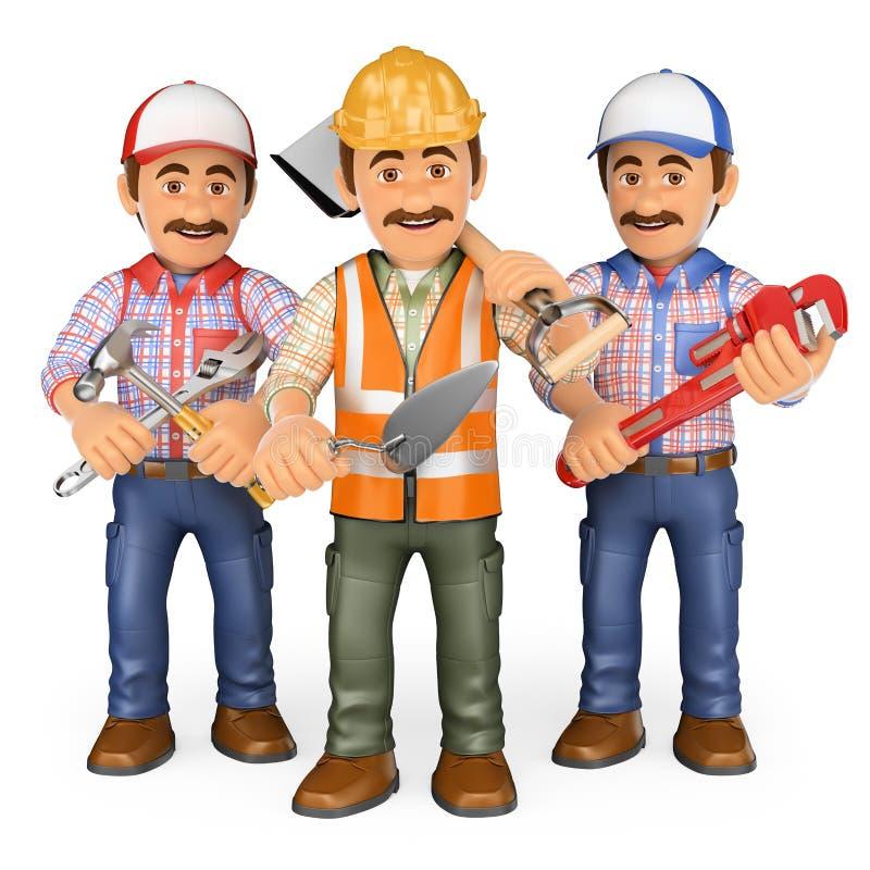 Trabajadores 3d equipo de trabajo stock de ilustraci n for Gimnasio 1 de mayo