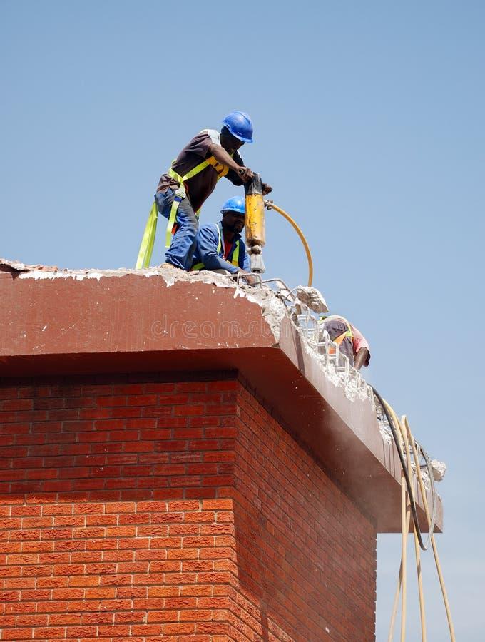 Trabajadores de construcción fotos de archivo libres de regalías