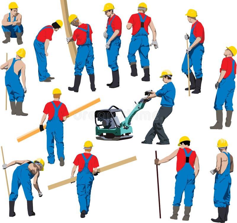 Trabajadores de construcción ilustración del vector