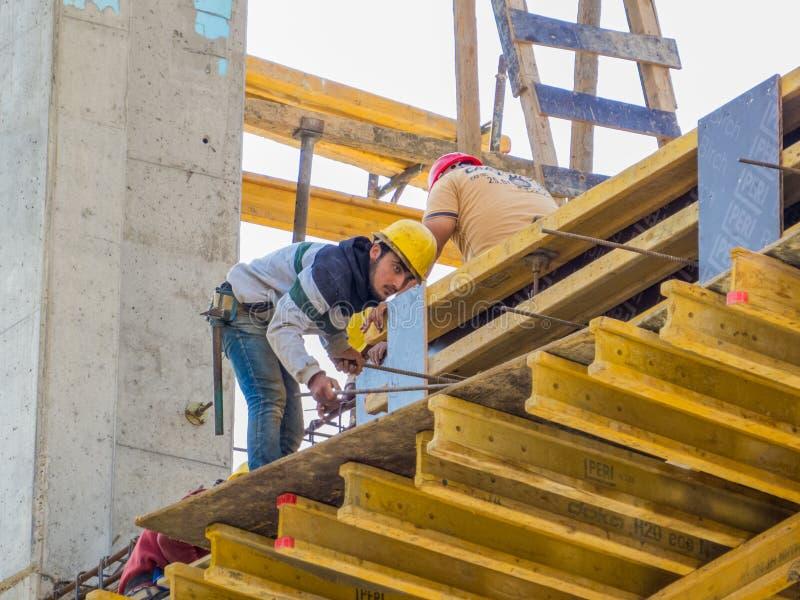 Trabajadores de construcción libaneses imagen de archivo