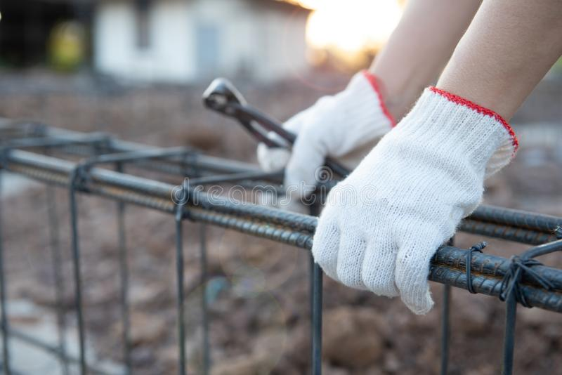 Trabajadores de construcci?n foto de archivo libre de regalías