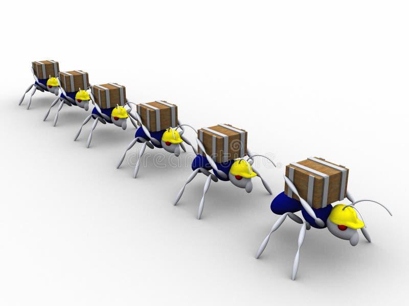 Trabajadores de la hormiga ilustración del vector