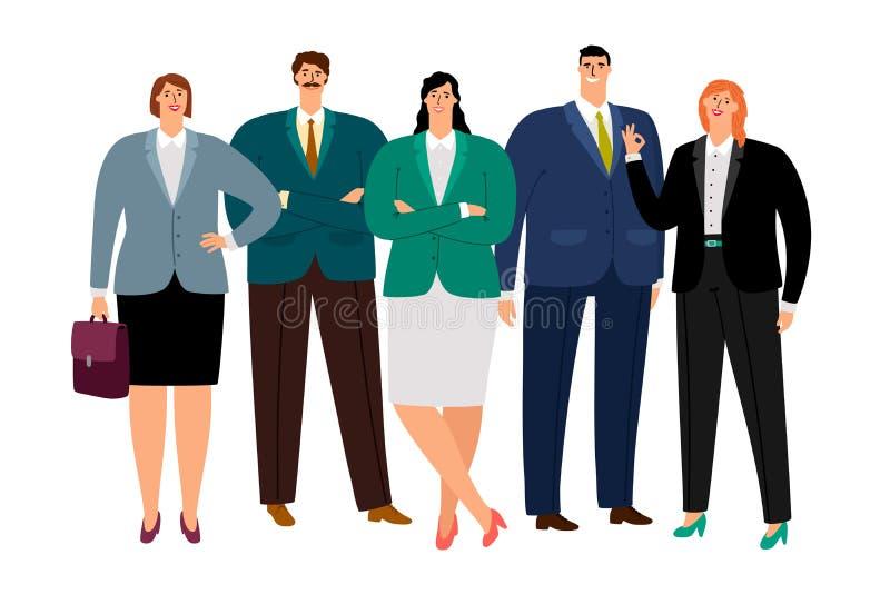 Trabajadores de la oficina fijados stock de ilustración