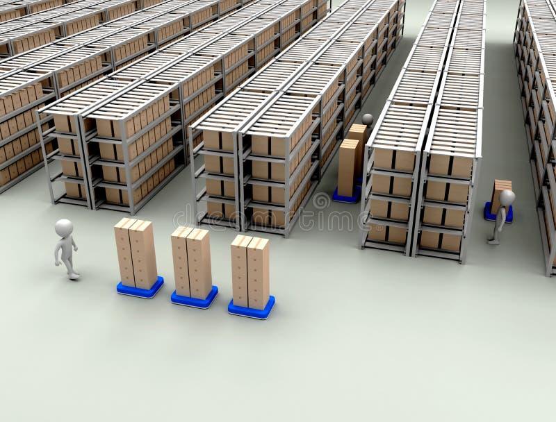 Trabajadores de Warehouse ilustración del vector