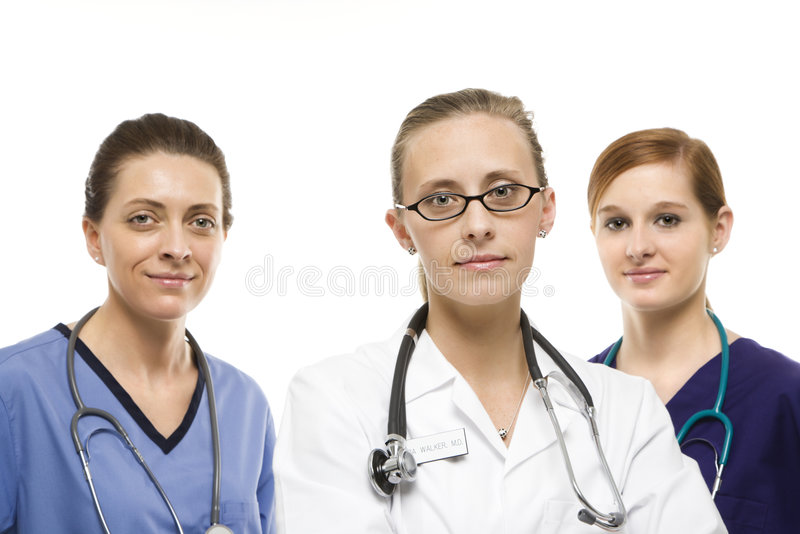 Trabajadores del cuidado médico de las mujeres imagen de archivo libre de regalías