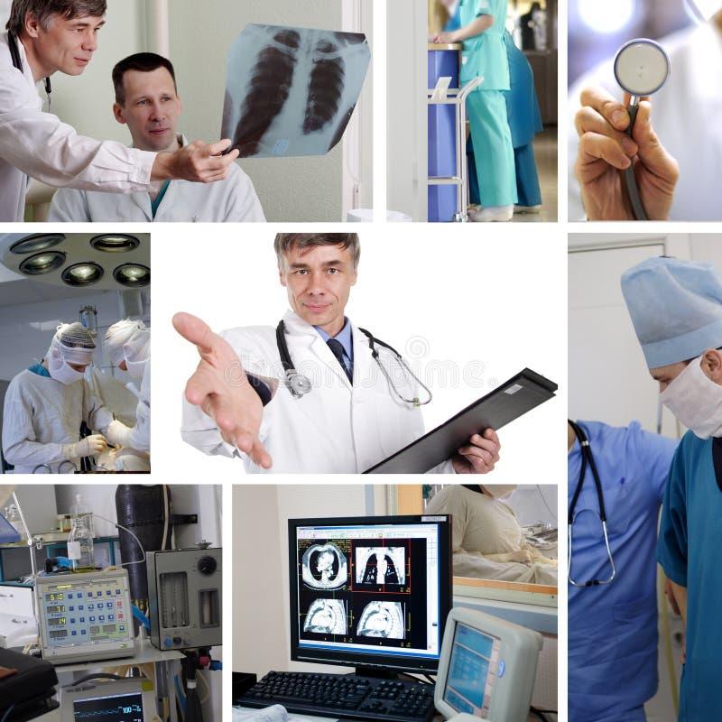 Trabajadores del hospital fotos de archivo