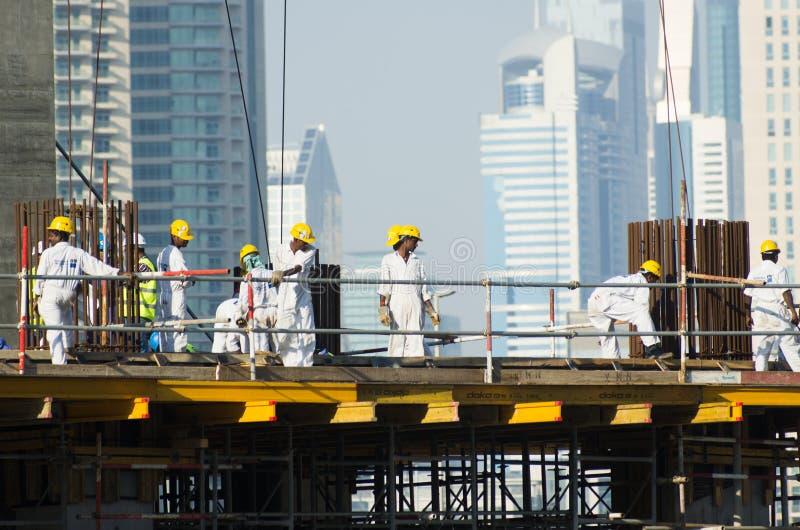 Trabajadores, Dubai imagen de archivo libre de regalías