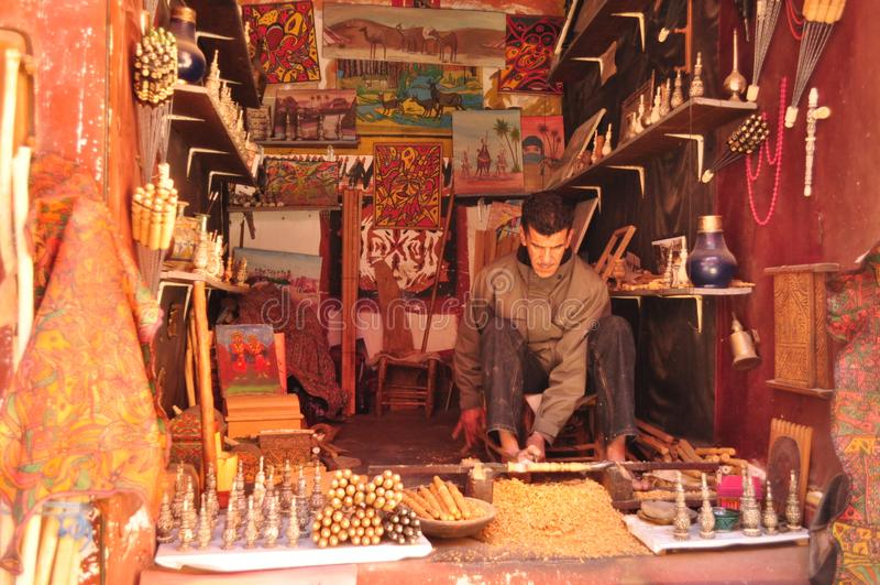 Trabajadores en MArruecos foto de archivo libre de regalías