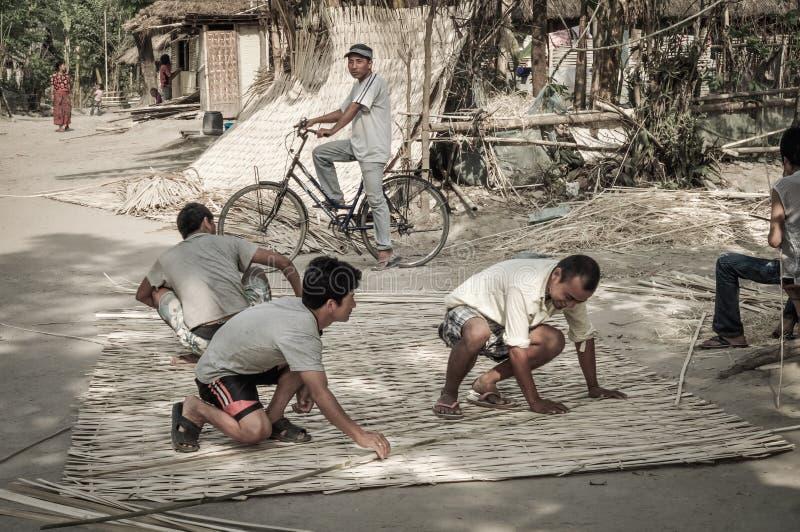 Trabajadores en Nepal imagen de archivo