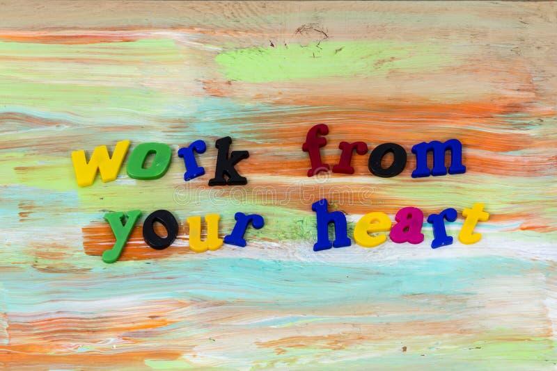 Trabaje el amor de la integridad de la honradez del corazón gozan de plástico imágenes de archivo libres de regalías