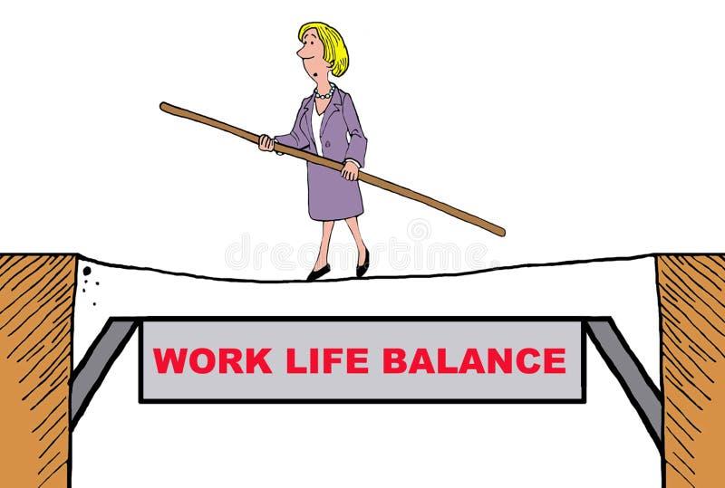 Trabaje la balanza de la vida ilustración del vector