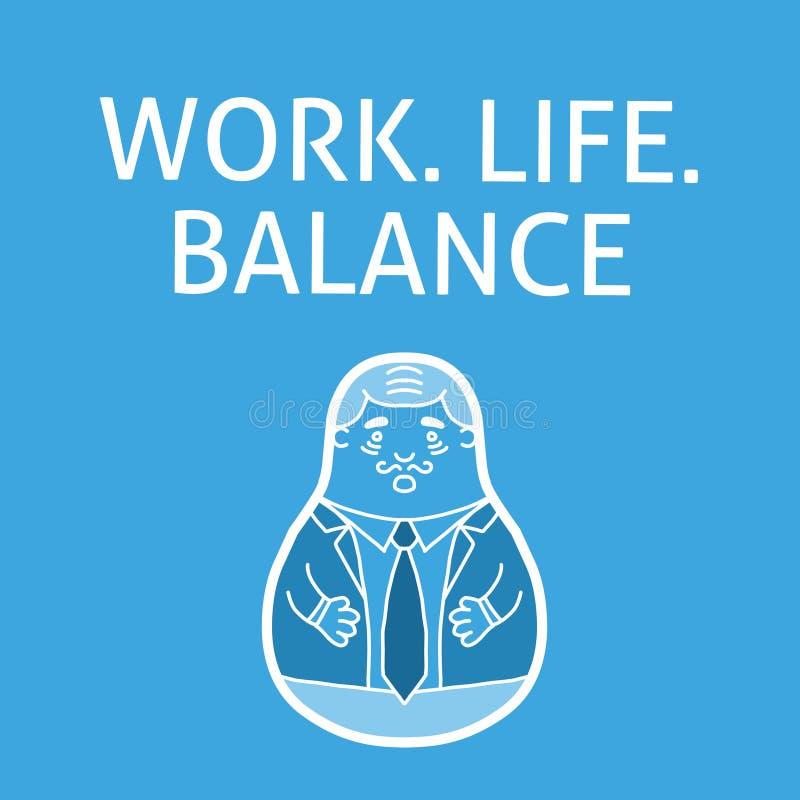 Trabaje la balanza de la vida stock de ilustración