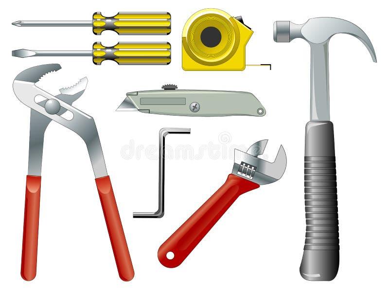 Trabaje las herramientas stock de ilustración