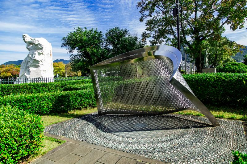 Trabajo de arte del parque de la paz de Nagasaki fotos de archivo