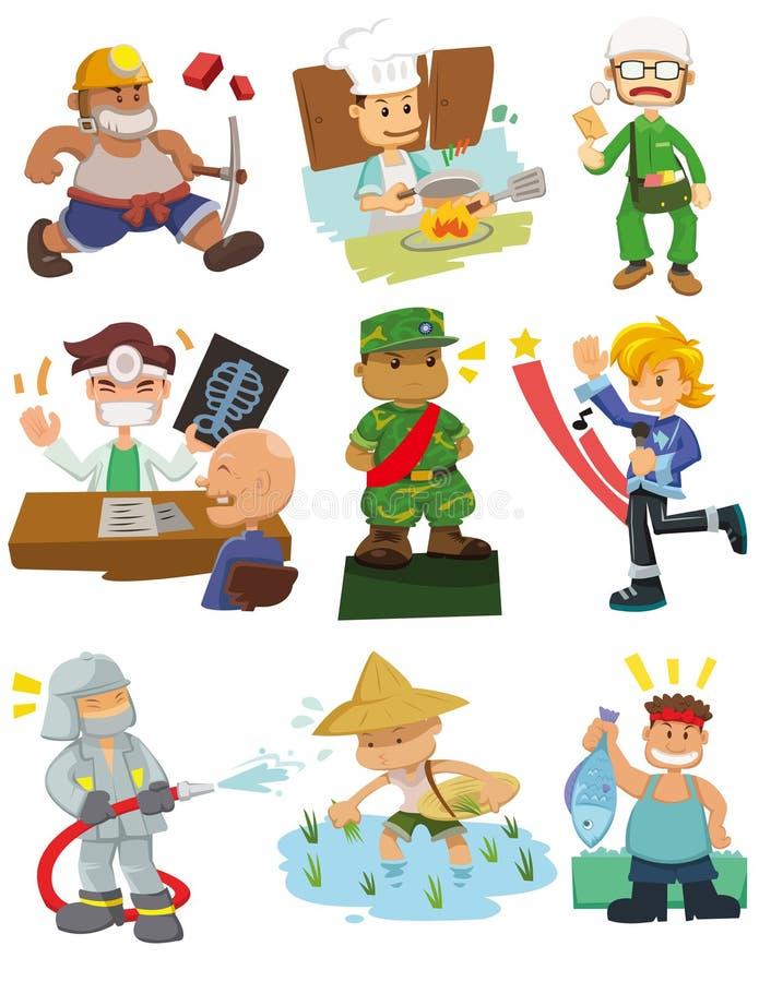Trabajo de la gente de la historieta stock de ilustración