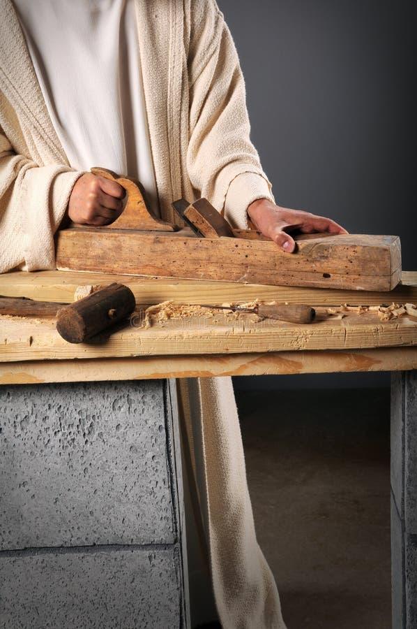 Trabajo de las manos de Jesús fotos de archivo
