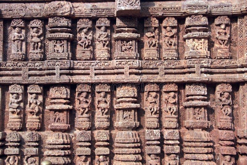 Trabajo de piedra en Konark imágenes de archivo libres de regalías