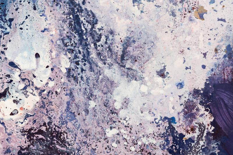 Trabajo de pintura elegante en tono violado claro admirable foto de archivo
