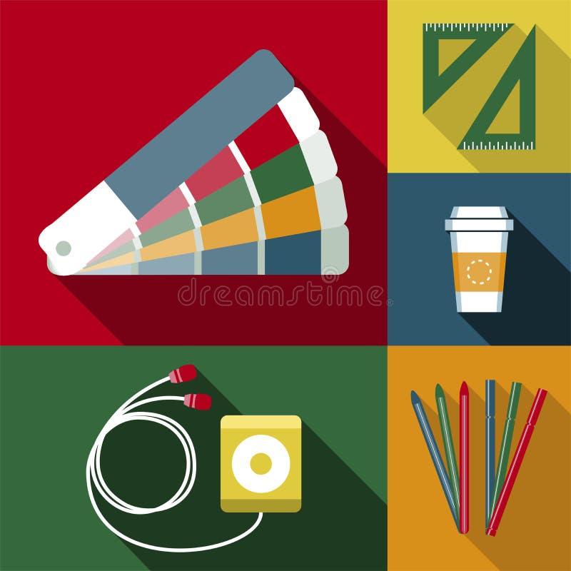 Trabajo del diseñador de los objetos libre illustration