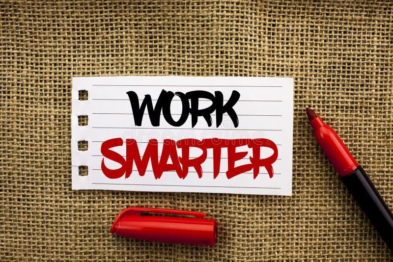 Trabajo del texto de la escritura de la palabra más elegante Concepto del negocio para Job Task Effective Faster Method inteligen fotos de archivo libres de regalías