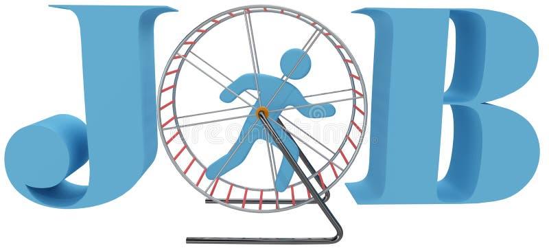Trabajo del vorágine de la rueda de la jaula de la persona ilustración del vector