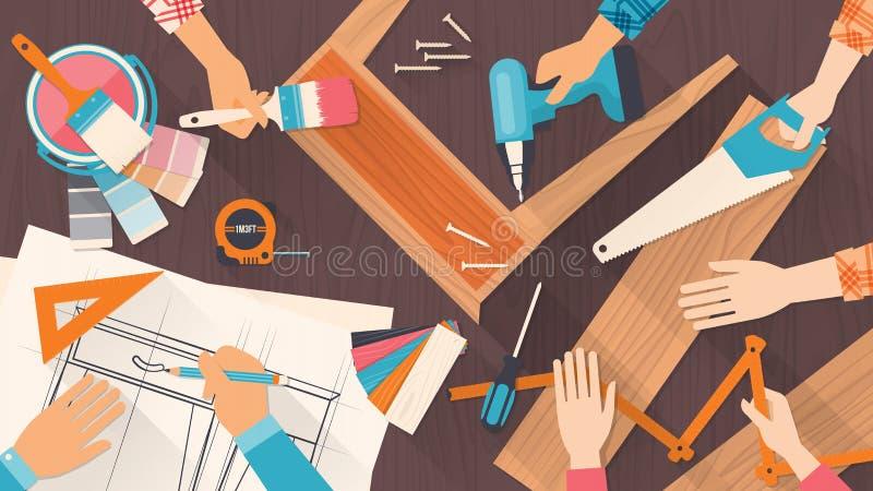 Trabajo en equipo libre illustration