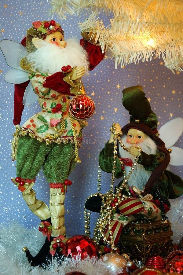 Trabajo en equipo de la Navidad imagen de archivo