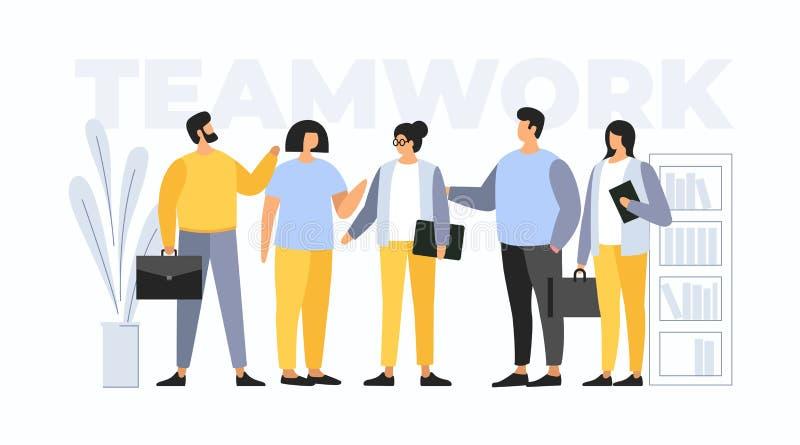 Trabajo en equipo del concepto Hombres de negocios de la reunión libre illustration